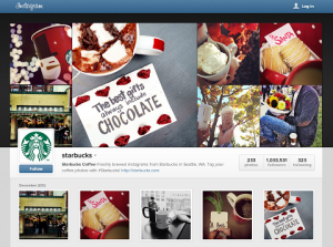 New Instagram profile of Starbucks