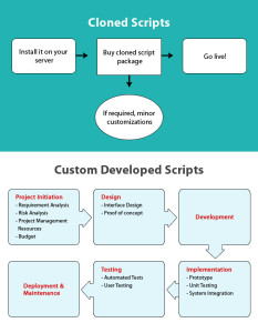 cloned vs custom development