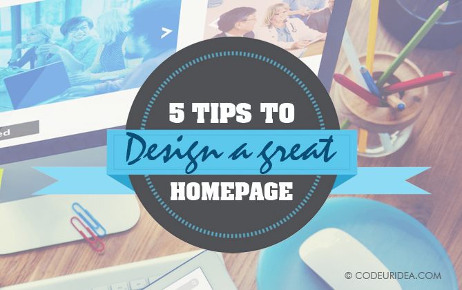 5 Homepage Design Tips